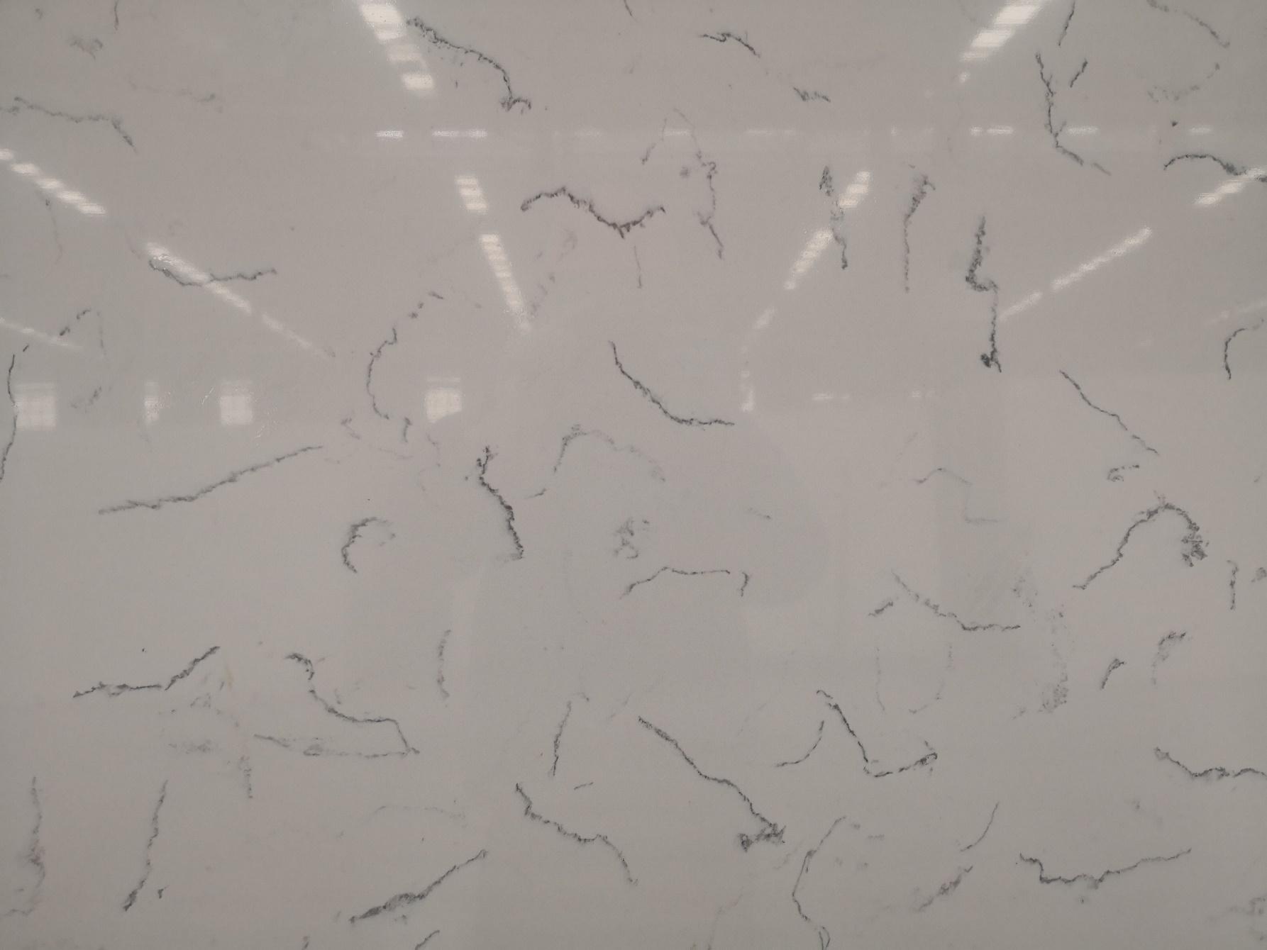 Carrara mist color artificial quartz stone