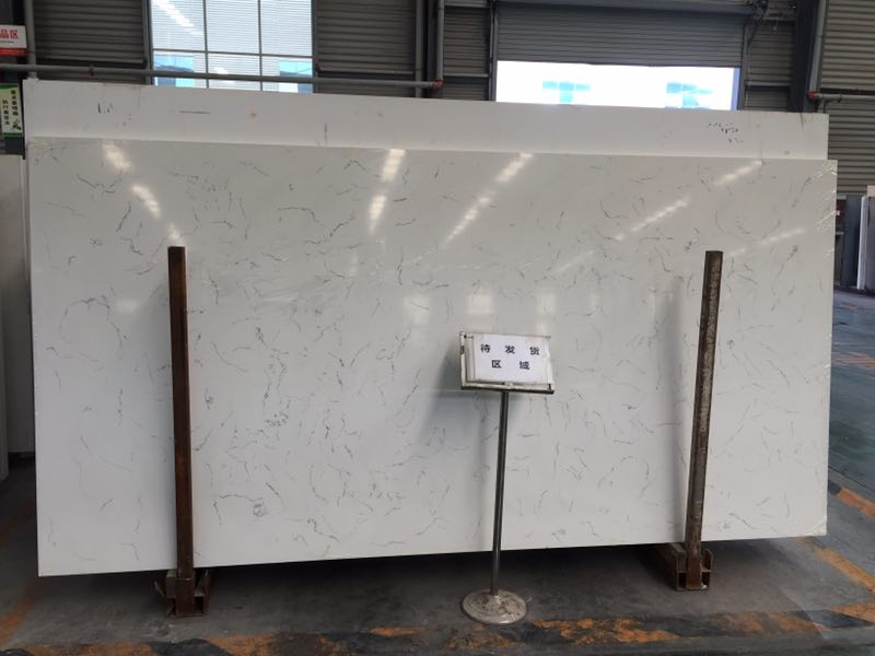 Carrara white quartz slabs