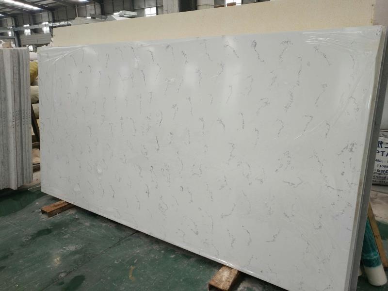 Artificial type carrara white quartz stone slabs