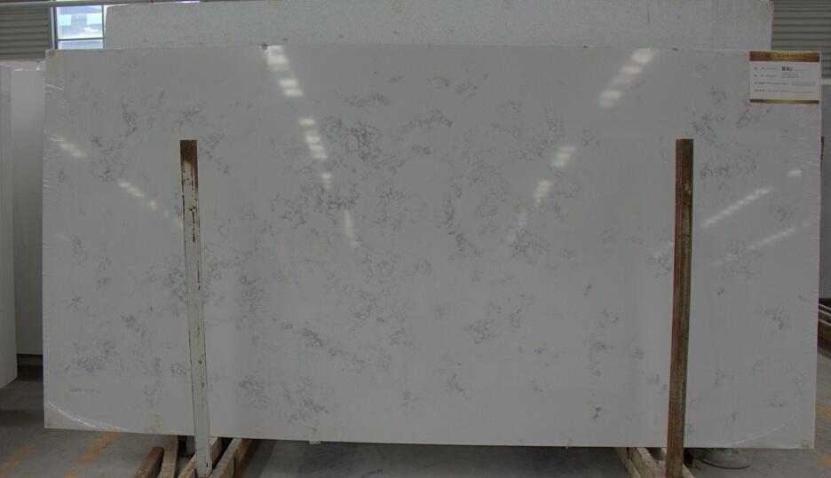 Carrara color quartz slabs