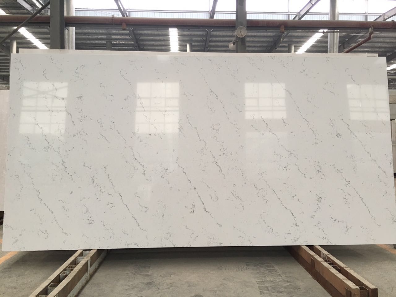 Carrara Color Artificial Quartz Stone Slabs