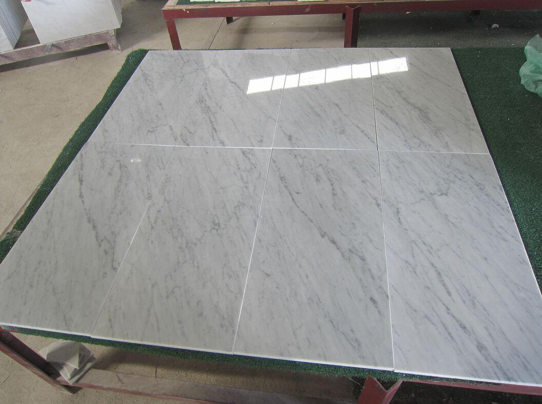 Polished Italian Carrara White Marble Tiles