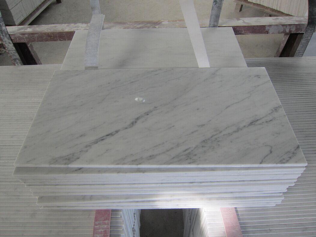 Carrara white tile