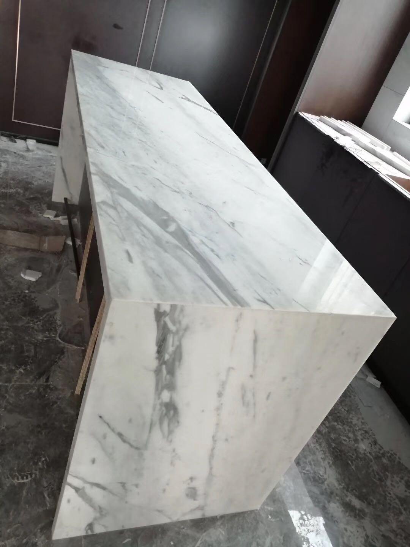 Carrara white marble countertop