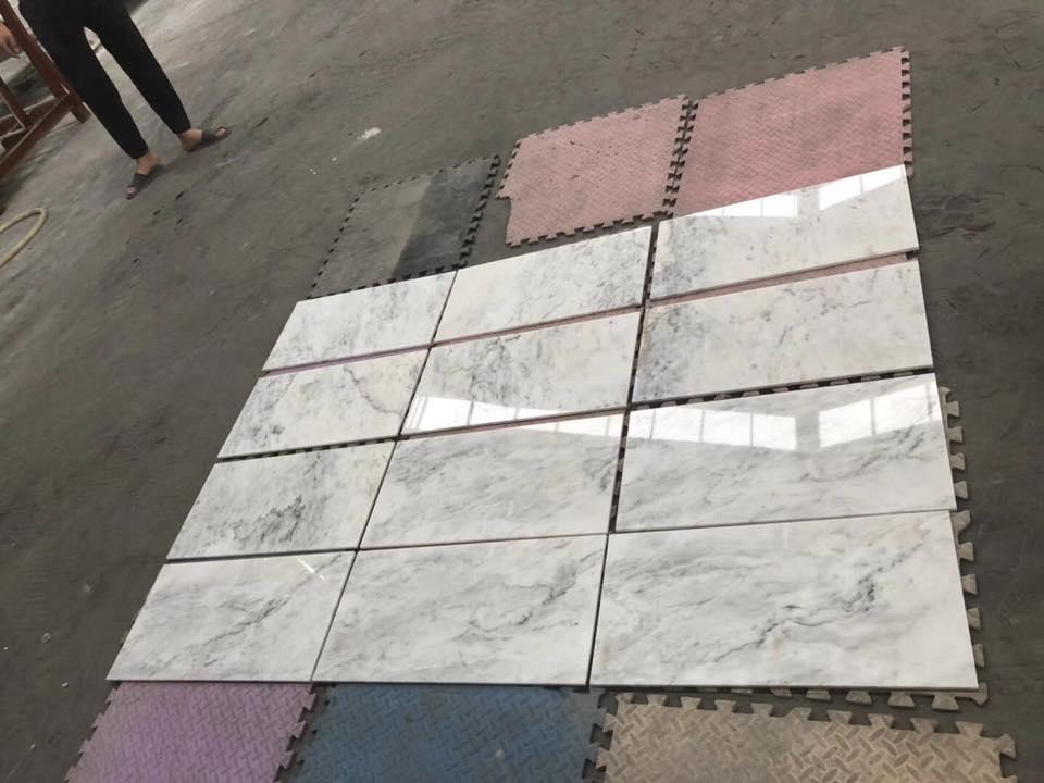 rhino white marble tiles