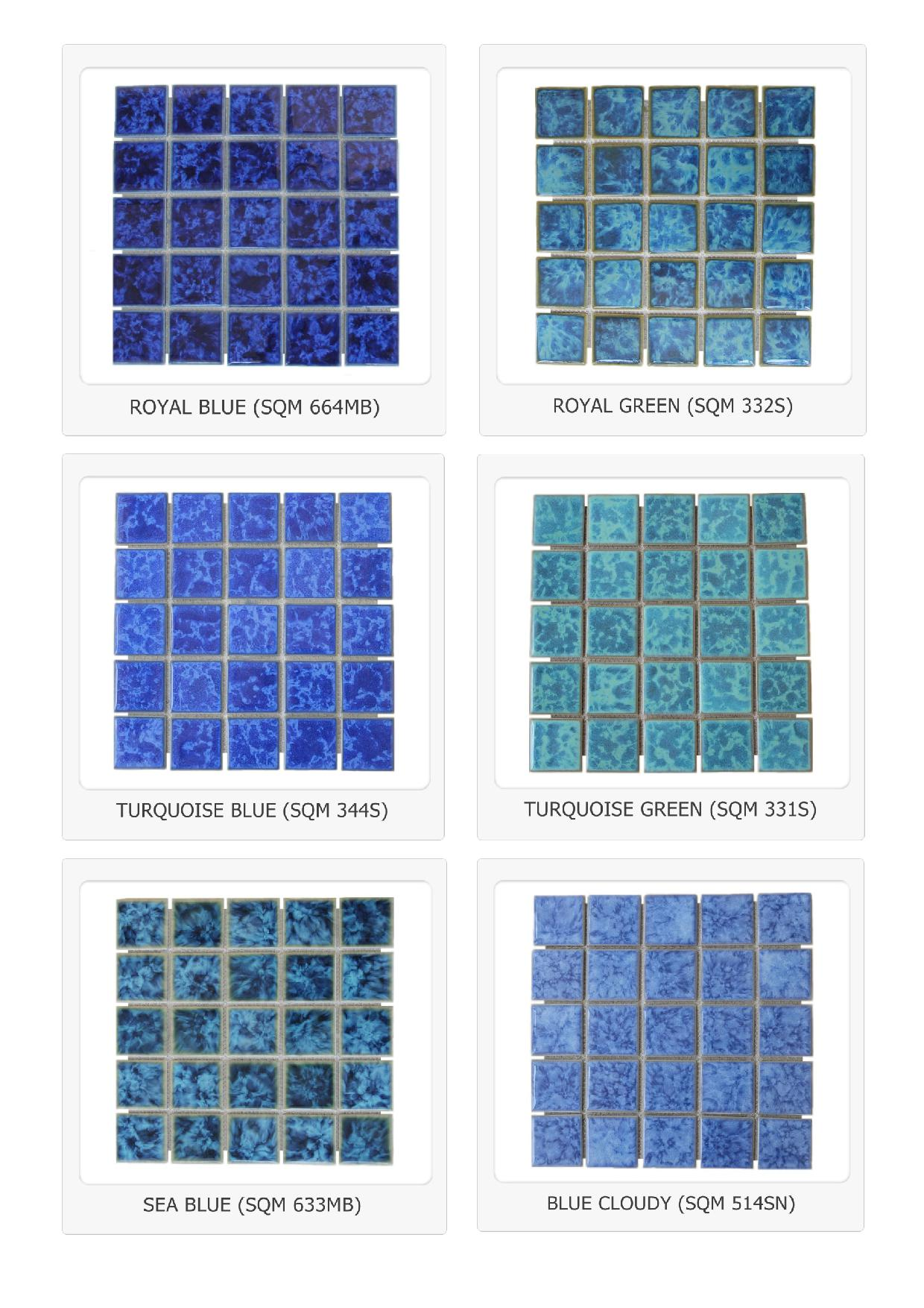 Bali Glazed Ceramic Mosaic Swimming Pool Tiles Indonesia Ceramic Tile Mass Kuda Laut Glossy Cramic Tile