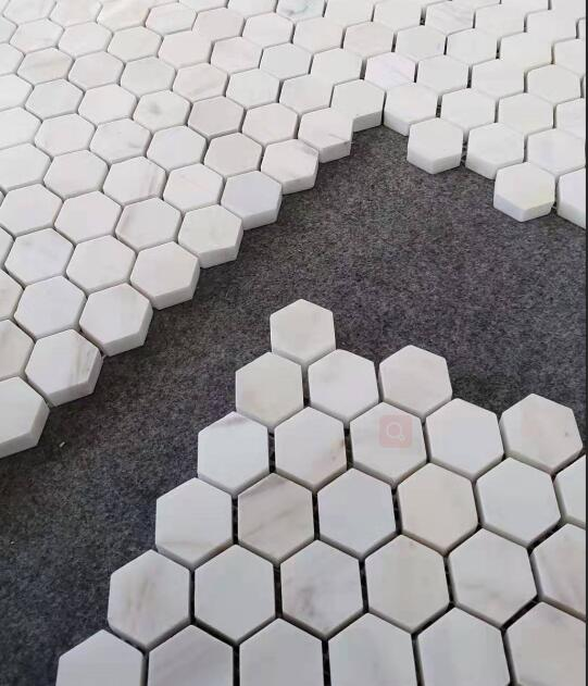 Bianca Marble White Herringbone Mosaic