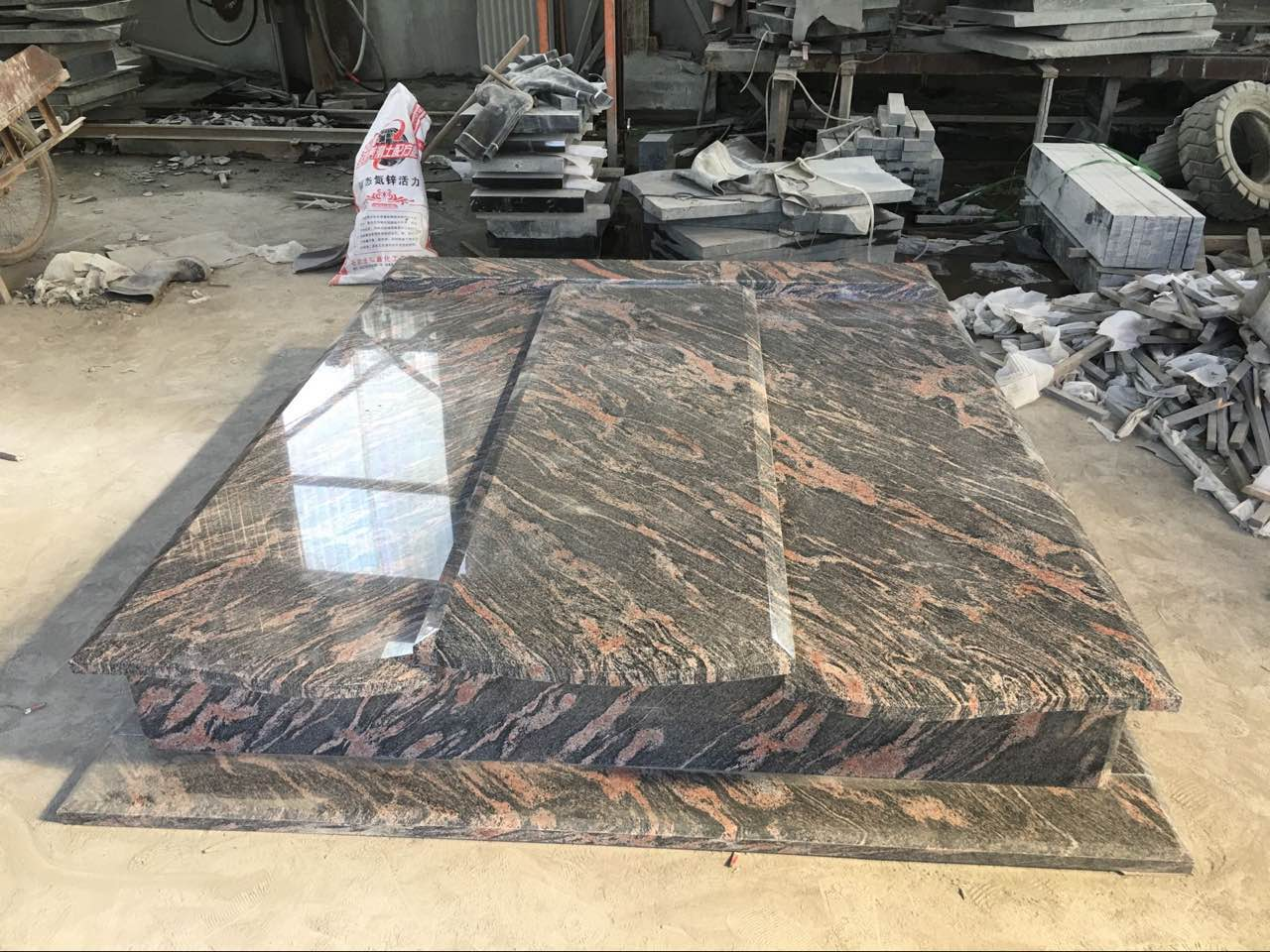 China Aurora Granite Tombstone