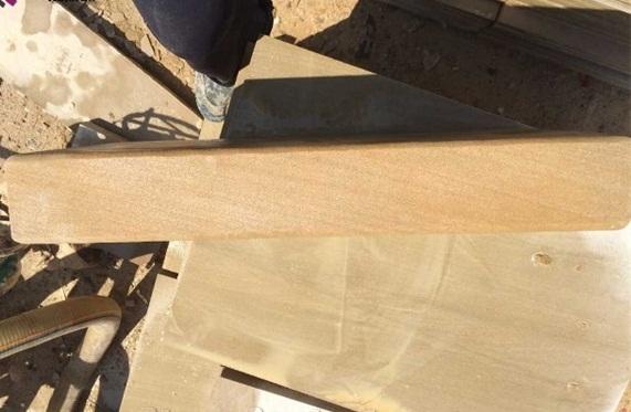 Yellow Beige Sandstone Steps Sandstone Stair Riser