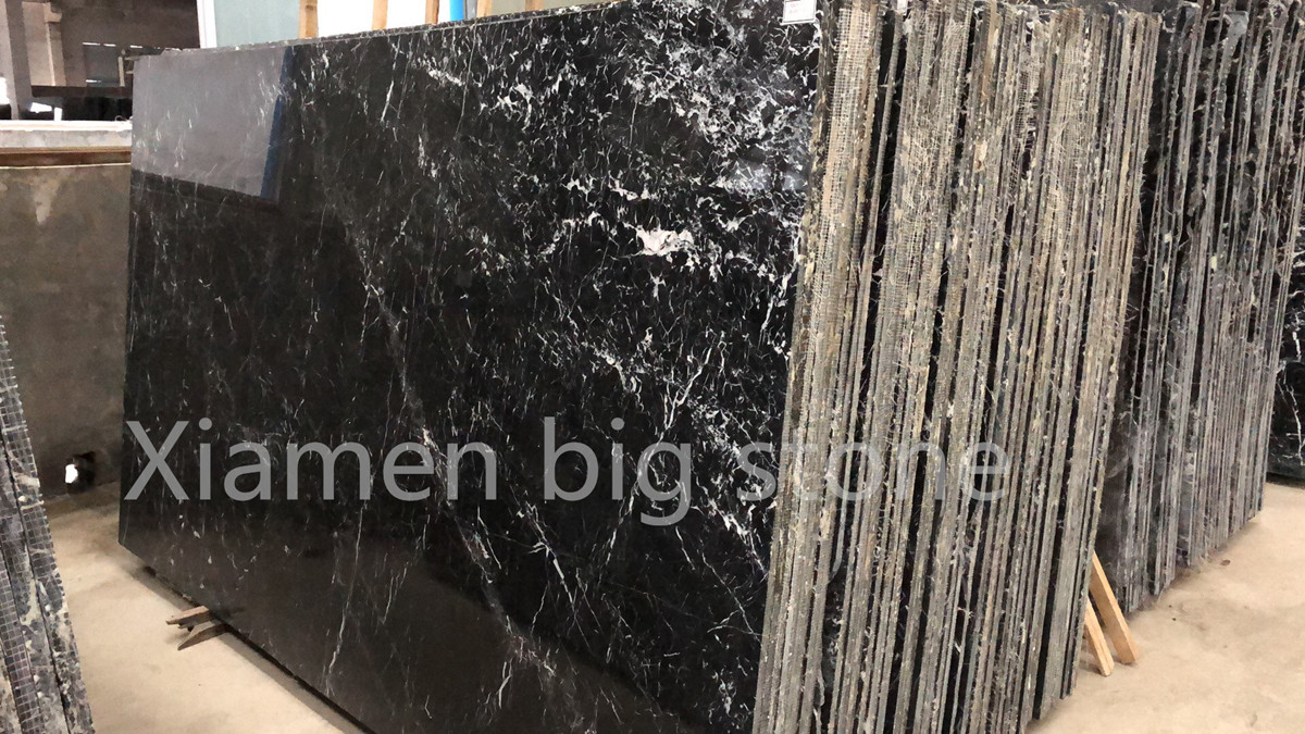China Nero Marquina Big Slab