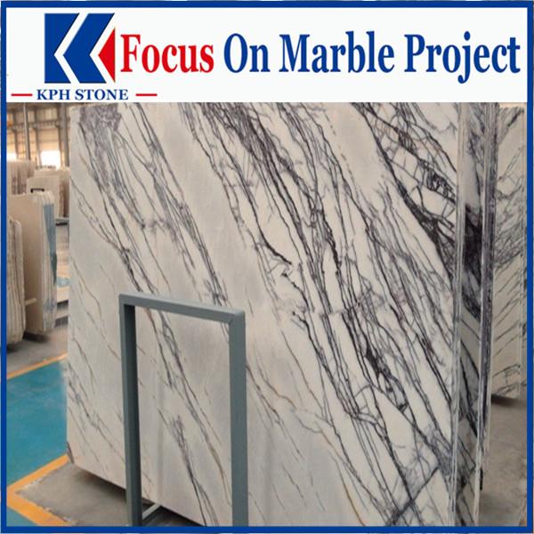 Polished china new york white marble