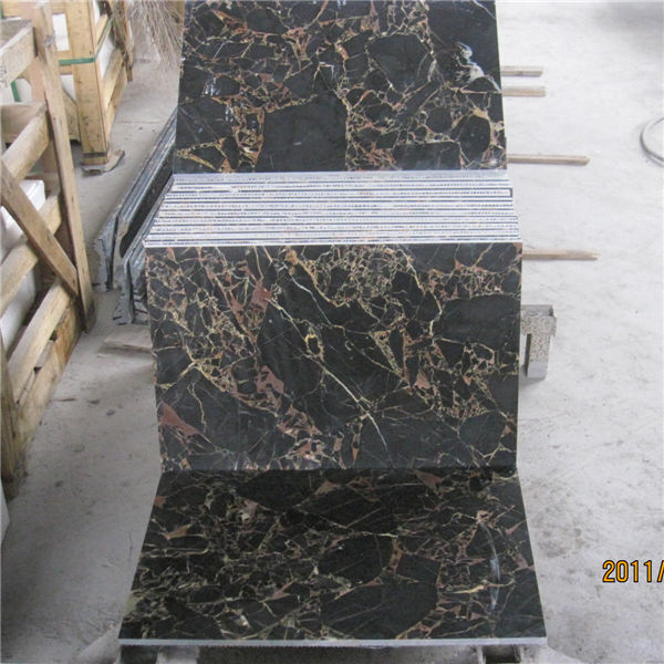 Chinese Black Gold Flower Marble