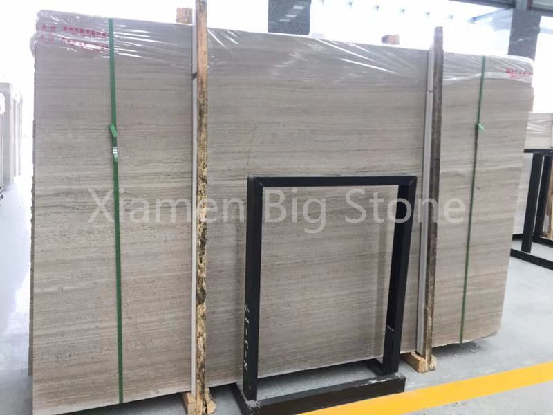 China white wooden marble big slab