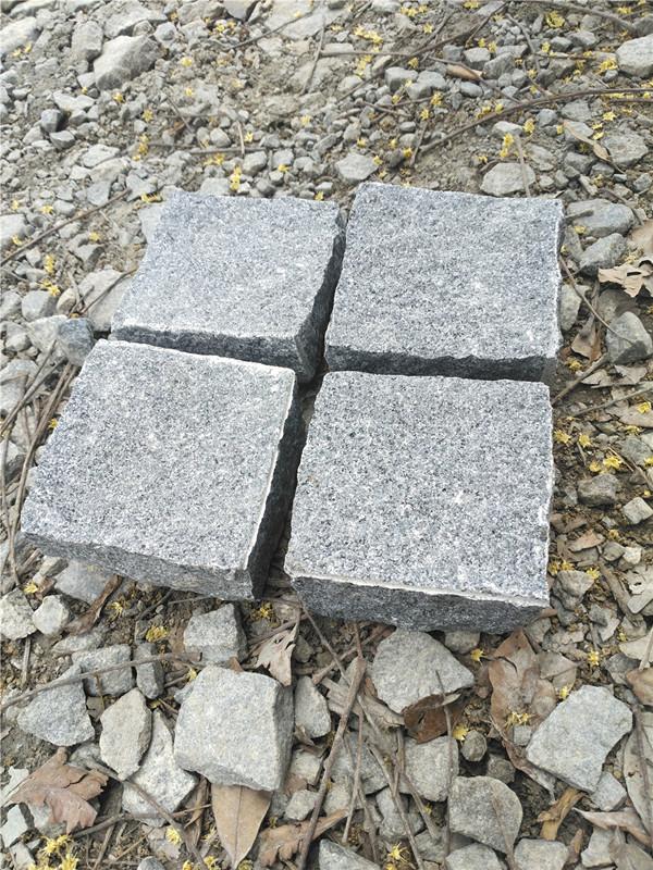 Dark grey G654 cobbles