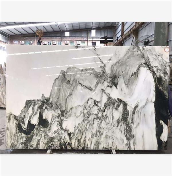 China Painting Landscape White Marble