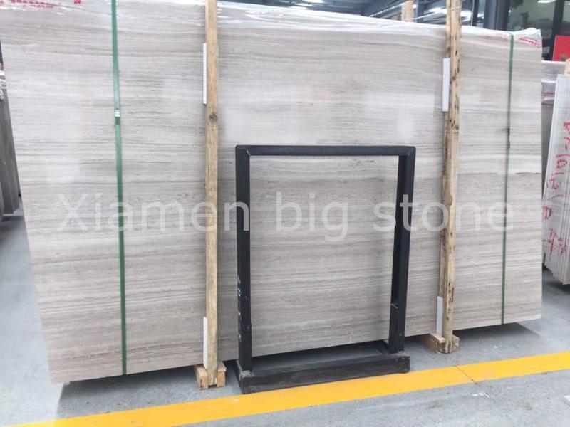 China White Wooden Marble Slab