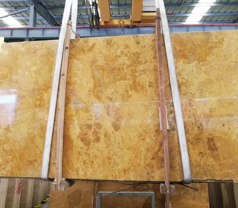 China Golden Marble Slabs for Interior Flooring
