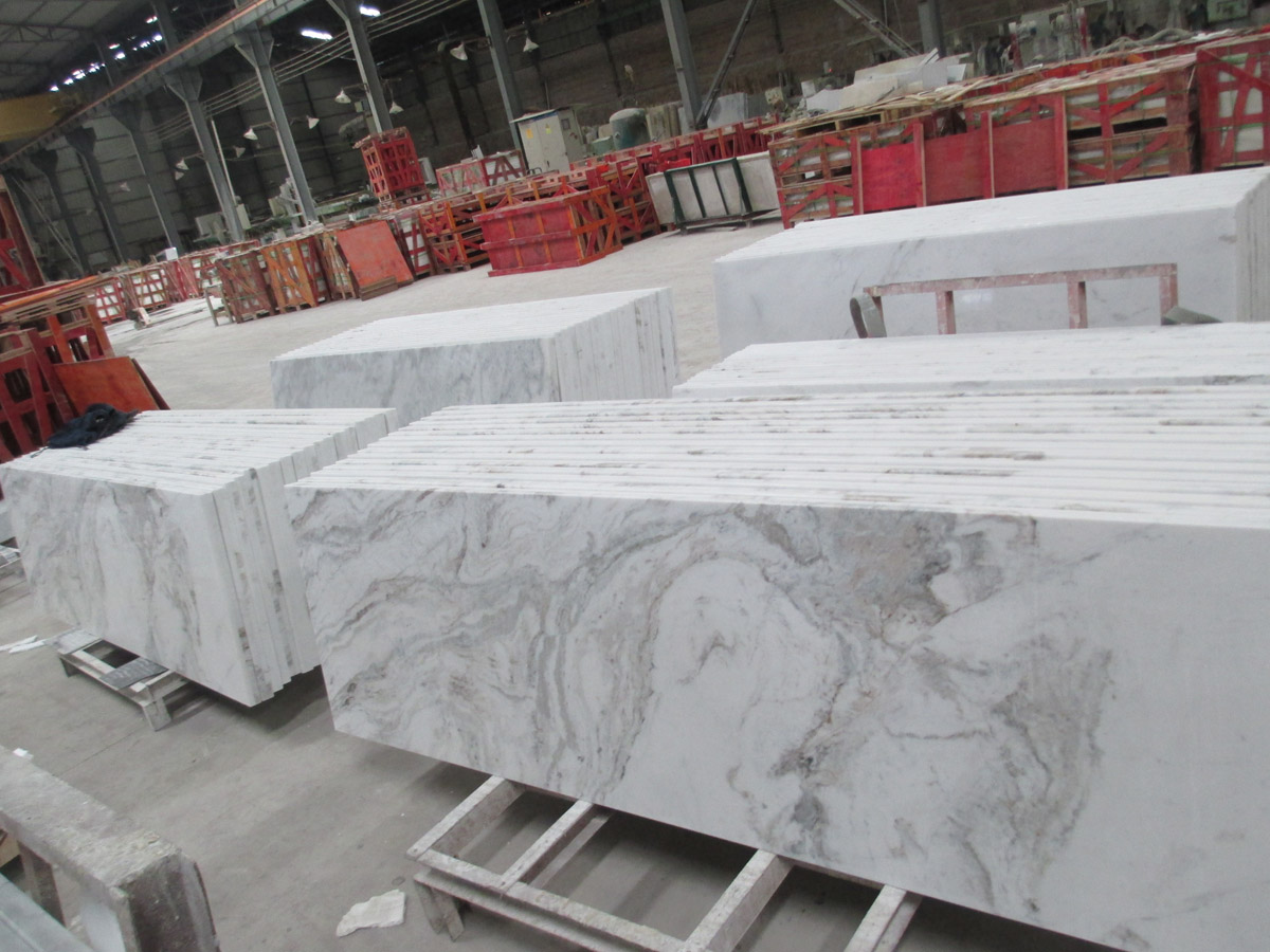 Chinese Snow White Marble Countertops for Bathroom