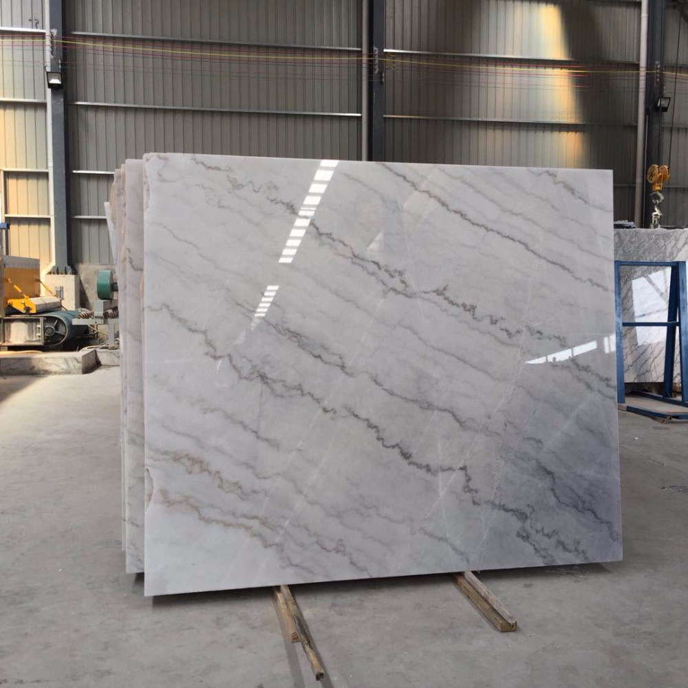 Chinese supplier polished pure crystal white grey marble