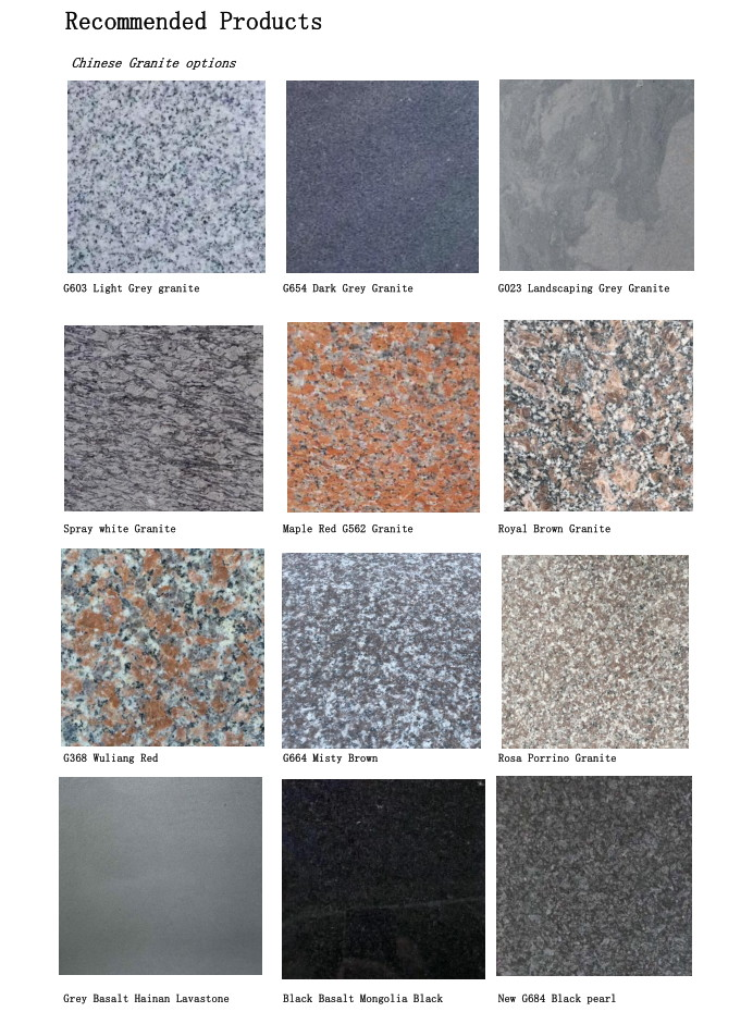 Chinese Granites tiles slabs  cut-to-sizes for projects