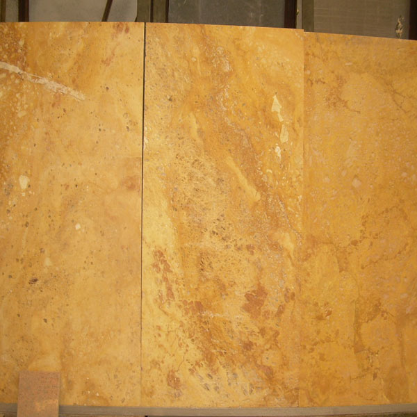 Chinese Yellow Travertine cross cut