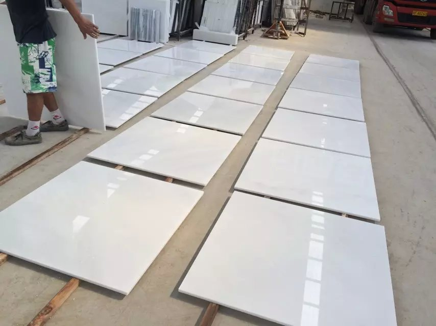 Chinese white jade tile pure white