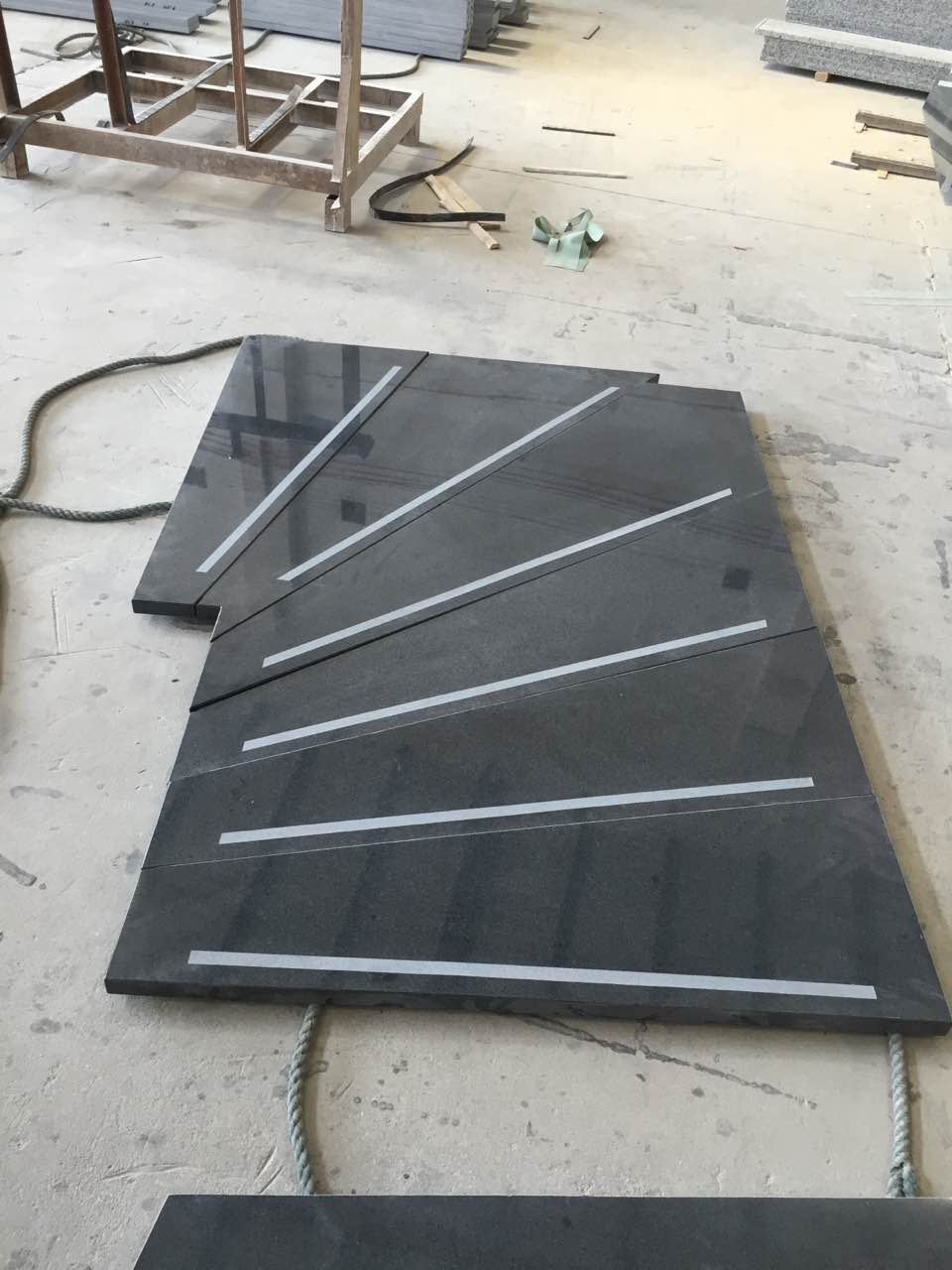 dark grey G654 stairs