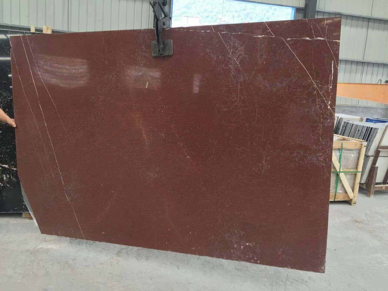 Chinese red coral marble