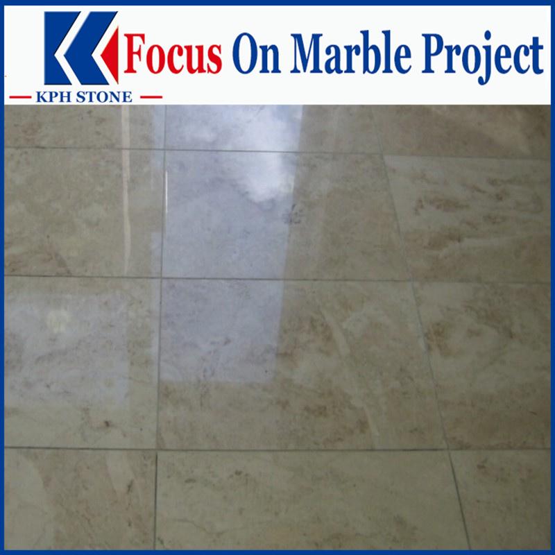 Classic Beige marble bathroom floor tiles