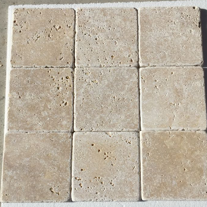 Turkish Travertine tumbled tile