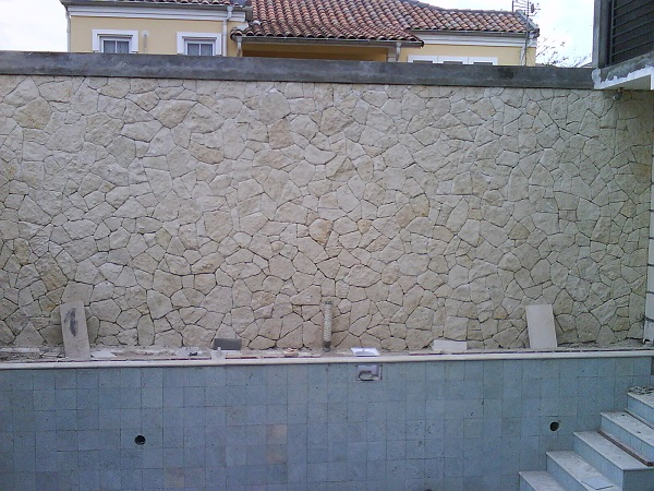 Bali Tuban White Limestone Tiles Slabs Wall Cladding Walling Tile Interial Wall