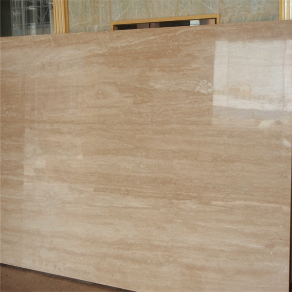 Classic Roman  beigh Travertine slabs vein cut
