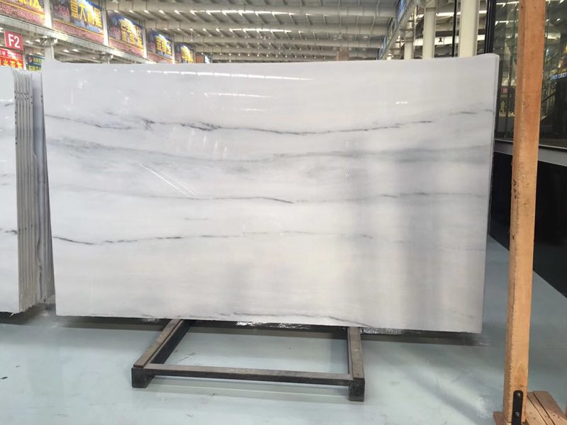 Classic White Elegant White Marble Slabs For Hotel Interior Decorations