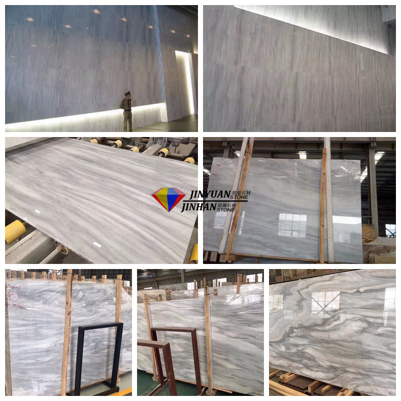 New Material Own New Quarry Cloudy WhiteGrayGrey Marble use in Wall covering  Countertop