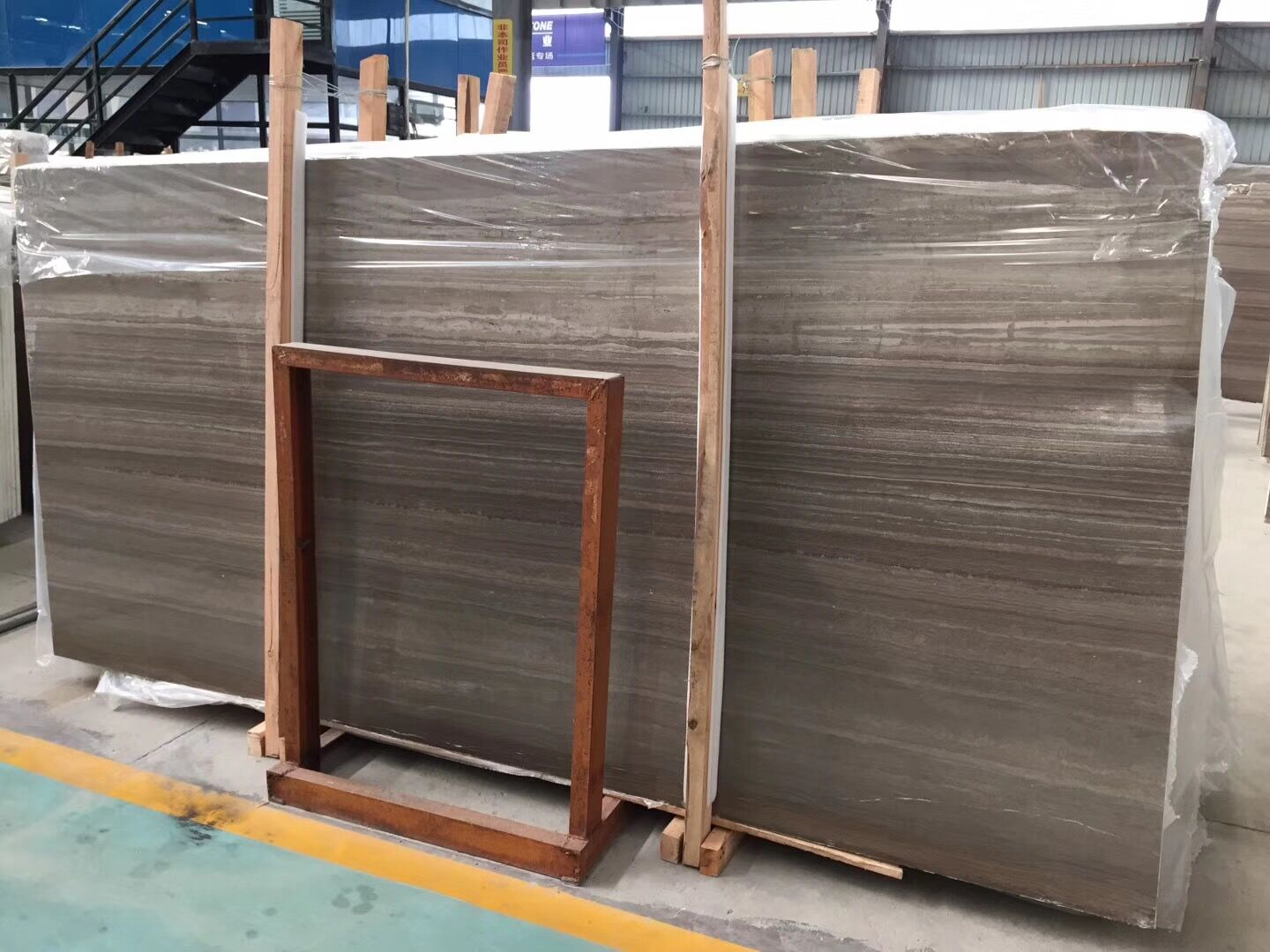 Polished coffee wooden marble