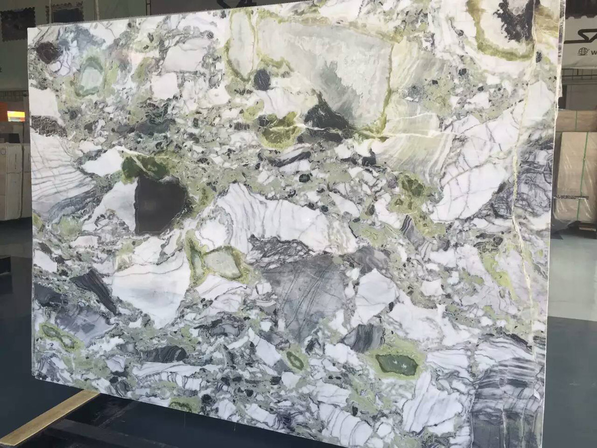 Cold Jade Marble Slabs Chinese Green Marble Slabs