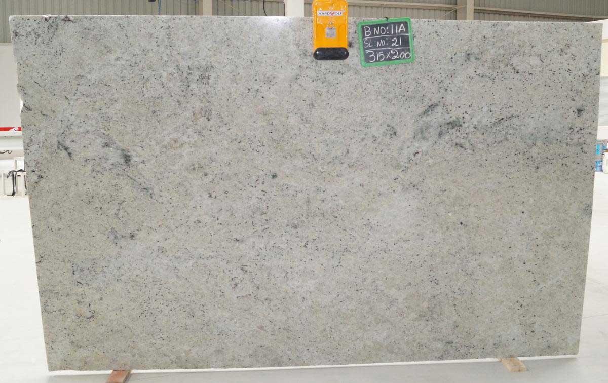 Colonial White Granite slab