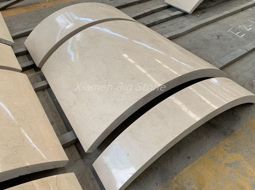 Sunny Beige Marble Column Cover Design