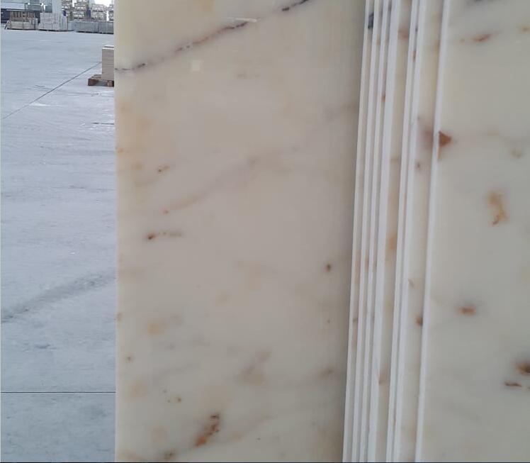 commercial grade afyon sugar white marble slab