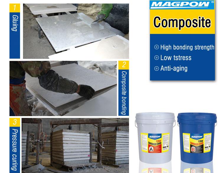 stone epoxy adhesive for composite marble