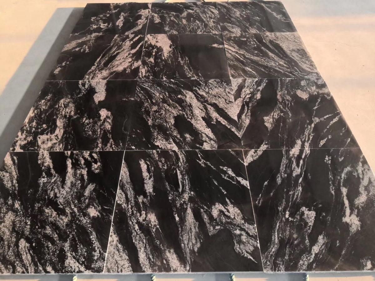 Cosmic Black Granite Tiles for Flooring