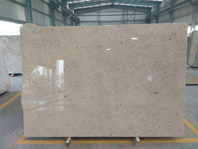 Cream Fossil Marble Polished Beige Marble-Slabs