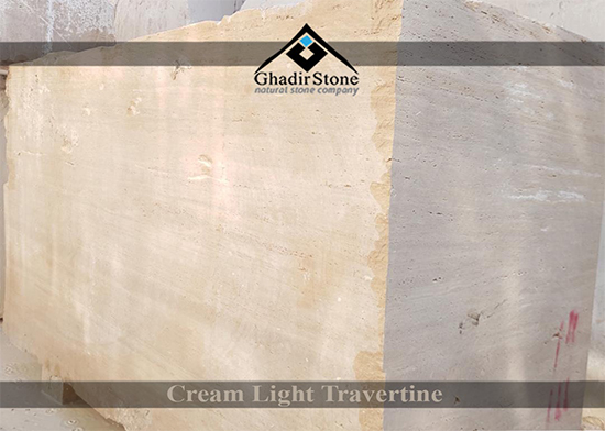 Cream Light Travertine Blocks