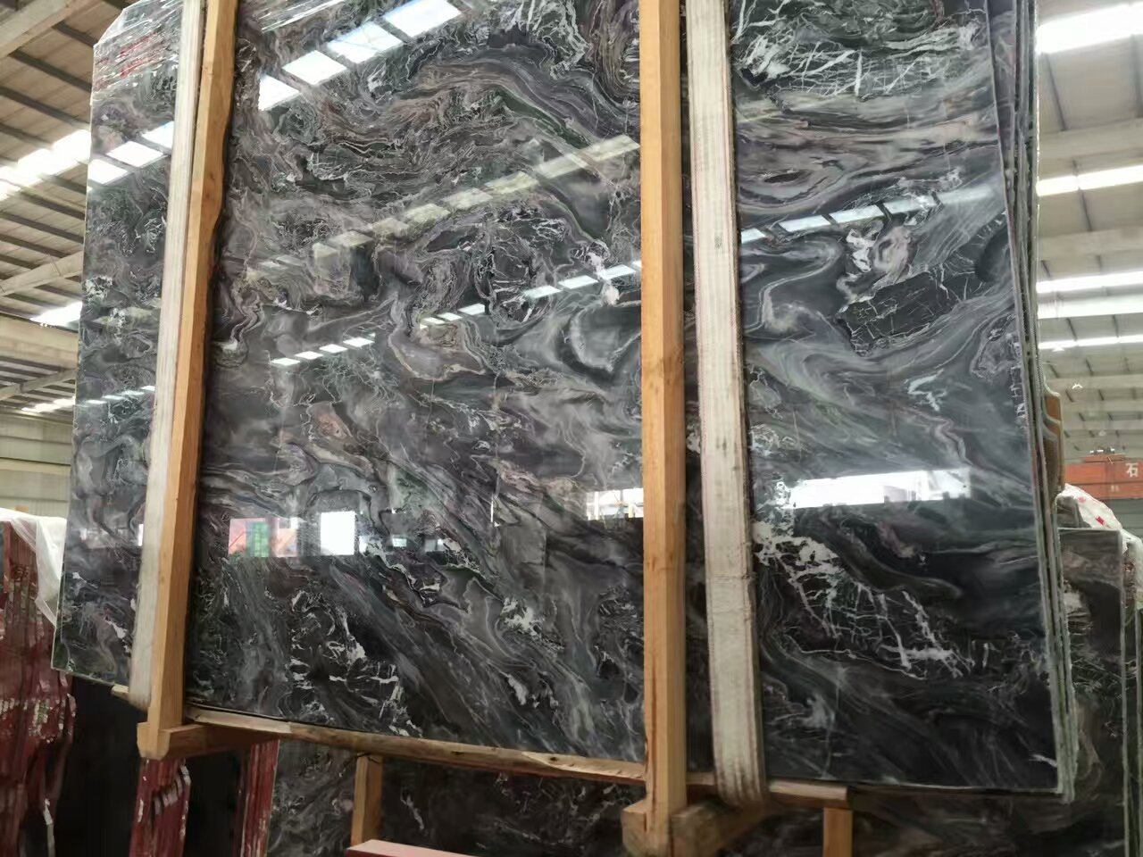 Cream Grey Louis Grey Marble Slabs