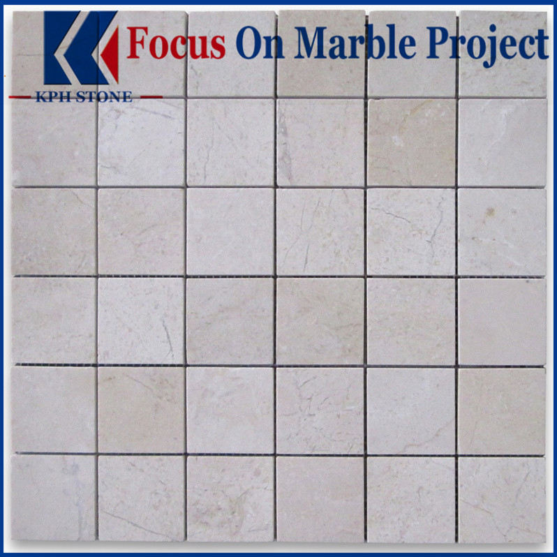Crema Marfil 2x2 Square Mosaic Tile Polished