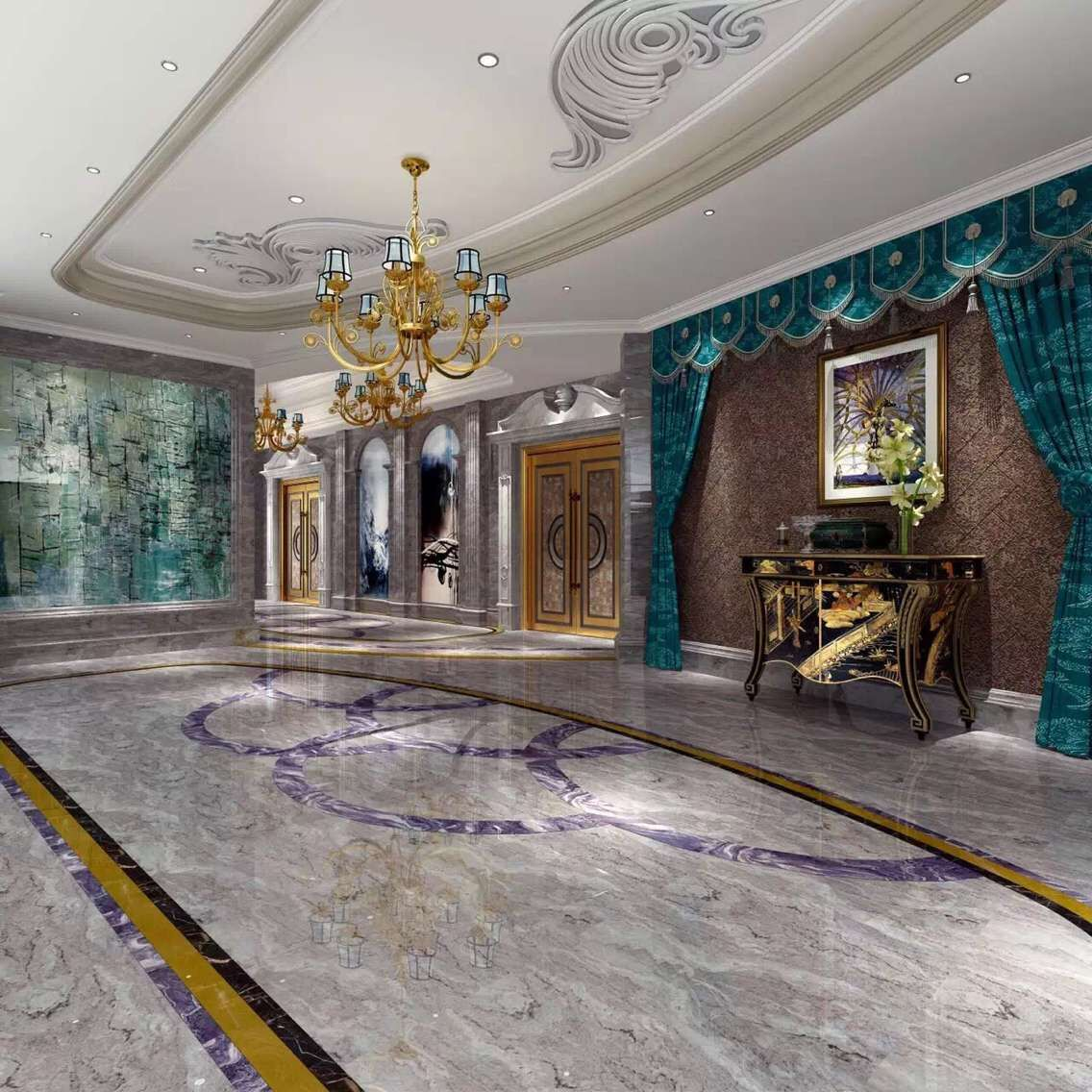 crystal wood interior decoration
