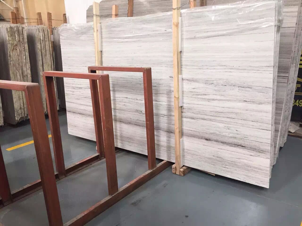 Crystal wood marble slab