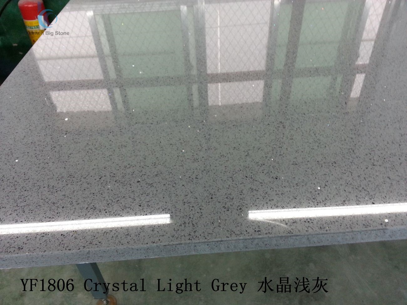 Quartz Crystal Light Grey Slab