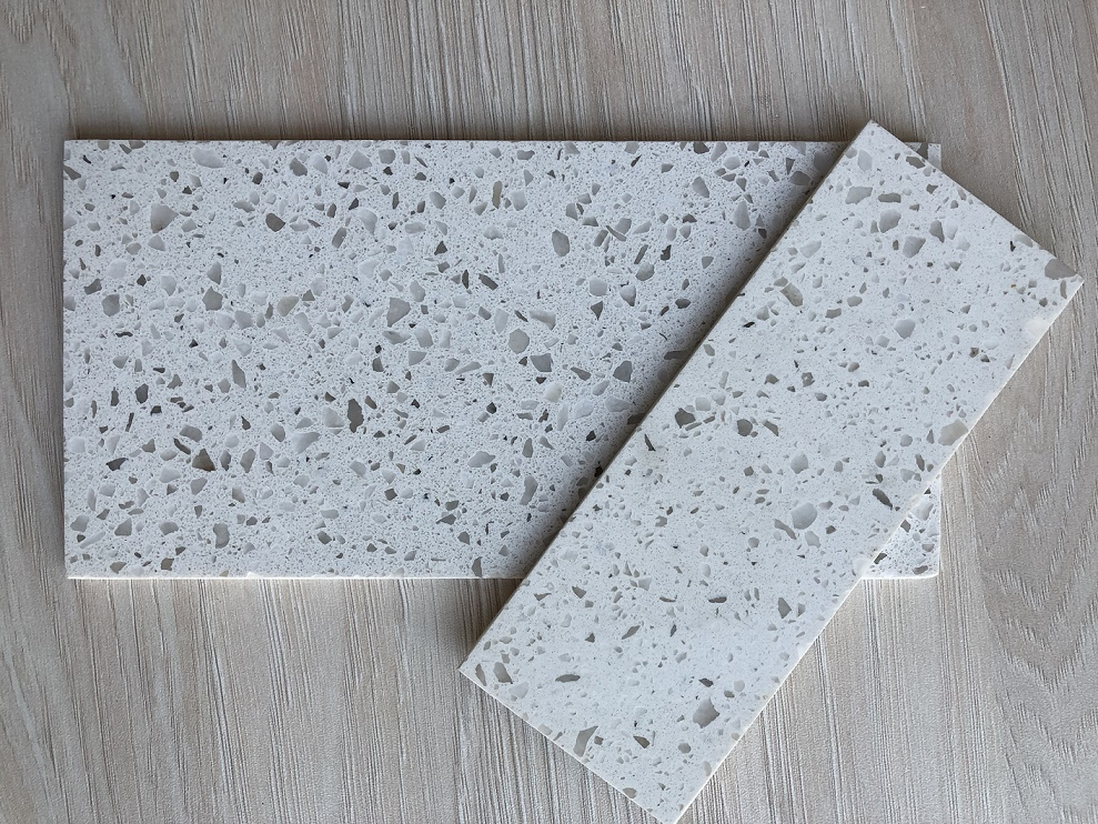 Artificial crystal white color quartz stone