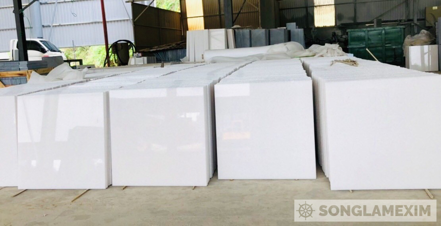 Premium White Crystal Marble Polished Tiles